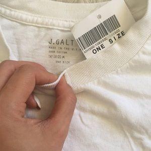 Brandy Melville Tops - Newport Beach cropped t shirt